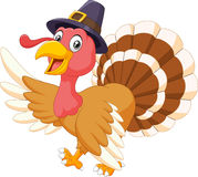 Cartoon turkey waving isolated on white background Royalty Free Stock Photography