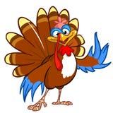 Cartoon turkey waving Stock Photos