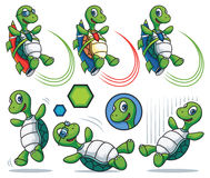 Cartoon Turtle Character Set Royalty Free Stock Image