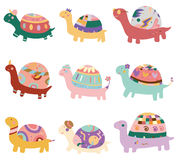Cartoon turtle icon. Vector drawing Royalty Free Stock Image