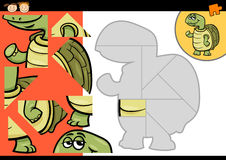 Cartoon turtle jigsaw puzzle game Stock Image