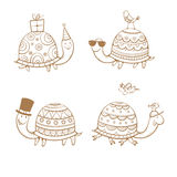 Cartoon turtles set. Royalty Free Stock Photography