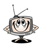 Cartoon tv. Beautiful cartoon tv with smile Stock Photos