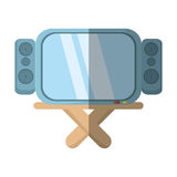 Cartoon tv channel movie sound table. Illustration eps 10 royalty free illustration