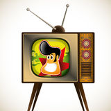 Cartoon tv character. Royalty Free Stock Images