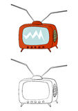 Cartoon tv vector illustration
