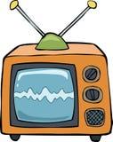 Cartoon TV. TV on a white background vector illustration Stock Photos