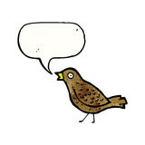 Cartoon tweeting bird Royalty Free Stock Images
