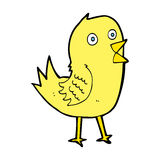 Cartoon tweeting bird. Hand drawn cartoon illustration in retro style.  Vector available Royalty Free Stock Photo