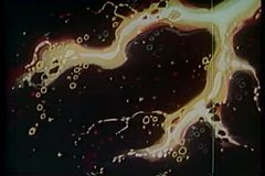 Cartoon of twinkling stars in the sky undergoing transformation stock footage