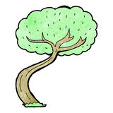Cartoon twisty tree Stock Photography