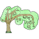 Cartoon twisty tree Royalty Free Stock Image