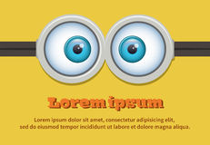 Cartoon two eyes glasses or goggles. Vector Stock Photo