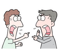 Cartoon two people arguing Royalty Free Stock Images