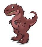 Cartoon tyrannosaurus Stock Photography