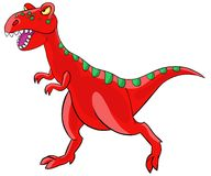 Cartoon  tyrannosaurus dinosaur. Stock Photo