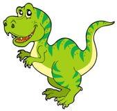 Cartoon tyrannosaurus rex Stock Image