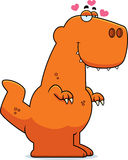 Cartoon Tyrannosaurus Rex in Love Stock Photography