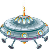 Cartoon ufo. UFO in cartoon style as a  illustration Stock Image