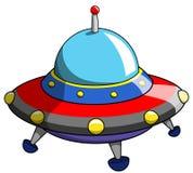 Cartoon ufo alien ship craft Stock Images