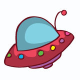 Cartoon ufo funny design for kids Stock Images