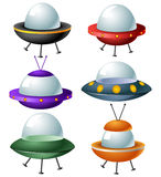 Cartoon ufo set Stock Photos