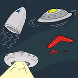 Cartoon UFO Royalty Free Stock Photography