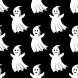Cartoon uggly ghosts and monsters seamless pattern. Cartoon uggly halloween ghosts and monsters seamless pattern for holiday background design Royalty Free Stock Image