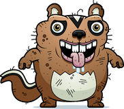 Cartoon Ugly Chipmunk Standing Stock Images