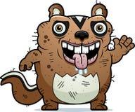 Cartoon Ugly Chipmunk Waving Royalty Free Stock Photo