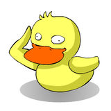 Cartoon ugly duck. Ugly duck illustration in funny cartoon form Royalty Free Stock Photo