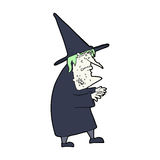 Cartoon ugly old witch Royalty Free Stock Photo