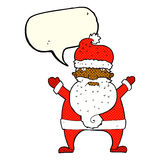 Cartoon ugly santa claus with speech bubble Stock Images