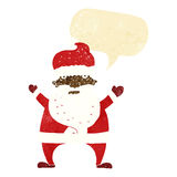 Cartoon ugly santa claus with speech bubble Stock Photos