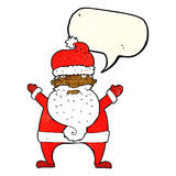 Cartoon ugly santa claus with speech bubble Royalty Free Stock Photography