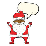 Cartoon ugly santa claus with speech bubble Stock Photo