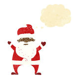 Cartoon ugly santa claus with thought bubble Stock Photo
