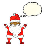 Cartoon ugly santa claus with thought bubble Royalty Free Stock Photos