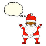 Cartoon ugly santa claus with thought bubble Royalty Free Stock Photography