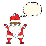 Cartoon ugly santa claus with thought bubble Royalty Free Stock Photo