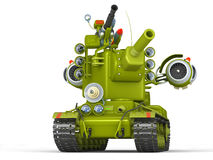 Cartoon Ultra Tank. 3D Illustration. Royalty Free Stock Photography