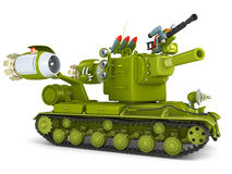 Cartoon Ultra Tank. 3D Illustration. Stock Photos