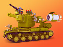 Cartoon ultra tank 3D illustration Stock Image