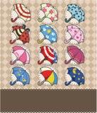 Cartoon umbrella card Royalty Free Stock Photography