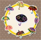 Cartoon umbrella card Royalty Free Stock Image