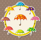 Cartoon umbrella card Stock Photos