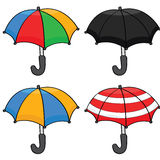 Cartoon umbrellas Stock Photography