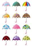 Cartoon Umbrellas icon. Vector drawing Stock Images