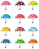 Cartoon umbrellas icon. Vector drawing Stock Photos