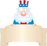 Cartoon Uncle Sam Banner Royalty Free Stock Photo